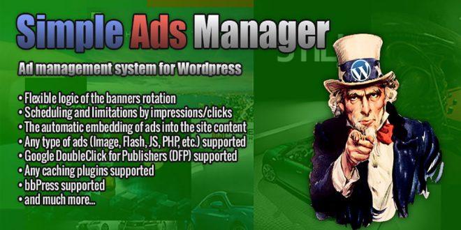 WordPress plugin Simple Ads Manager – SimpleLib